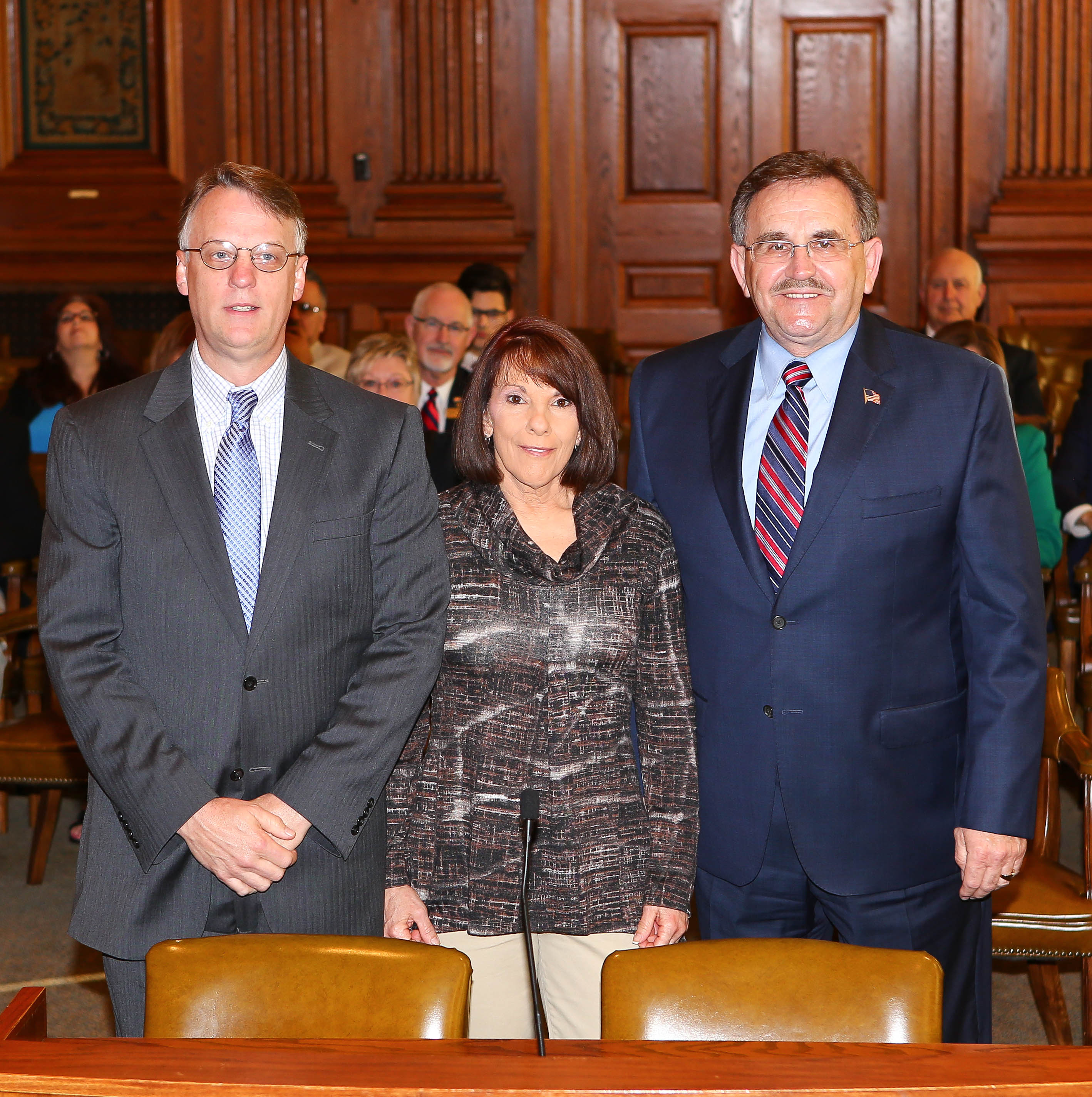 Shown above, Sen. Libla sponsored the appointment of Daryl Sorrell during the Gubernatorial Appointment Committee hearing on March 16, 2016.